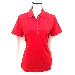 Callaway ladies golf polo red medium